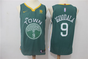 Warriors 9 Andre Iguodala Green Nike Authentic Jersey