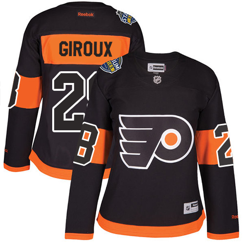 Flyers #28 Claude Giroux Black 2017 Stadium Series Women's Stitched NHL Jersey