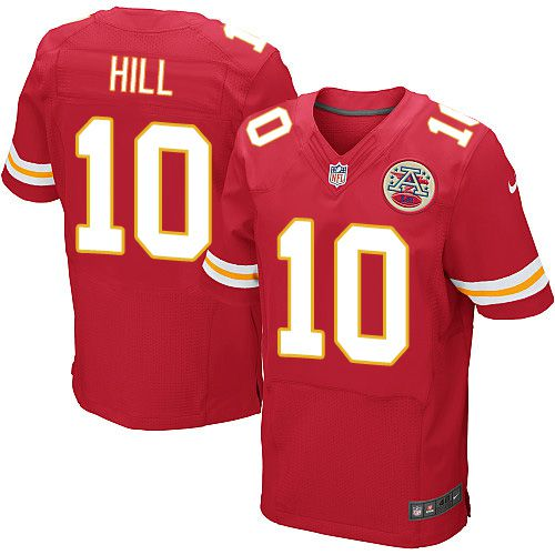 Nike Chiefs #10 Tyreek Hill Red Team Color Men's Stitched NFL Elite Jersey