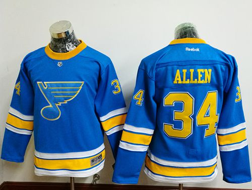 Blues #34 Jake Allen Light Blue 2017 Winter Classic Stitched Youth NHL Jersey