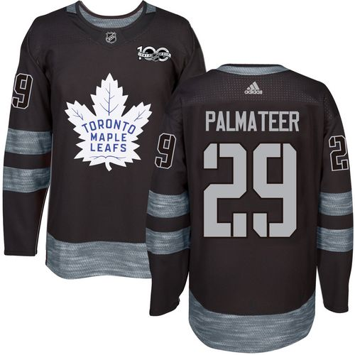 Men's Toronto Maple Leafs #29 Mike Palmateer Black 100th Anniversary Stitched NHL 2017 adidas Hockey Jersey