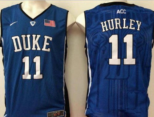 Men's Duke Blue Devils #11 Bobby Hurley Royal Blue College Basketball Stitched Nike Swingman Jersey