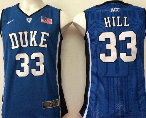 Men's Duke Blue Devils #33 Thomas Hill Royal Blue College Basketball Stitched Nike Swingman Jersey