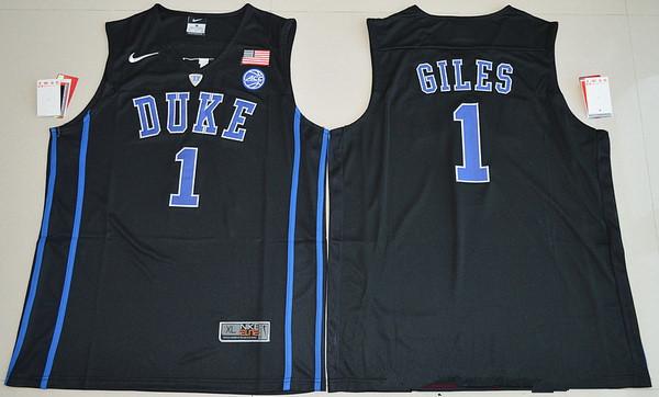Men's Duke Blue Devils #1 Harry Giles Black College Basketball Nike Swingman Stitched NCAA Jersey