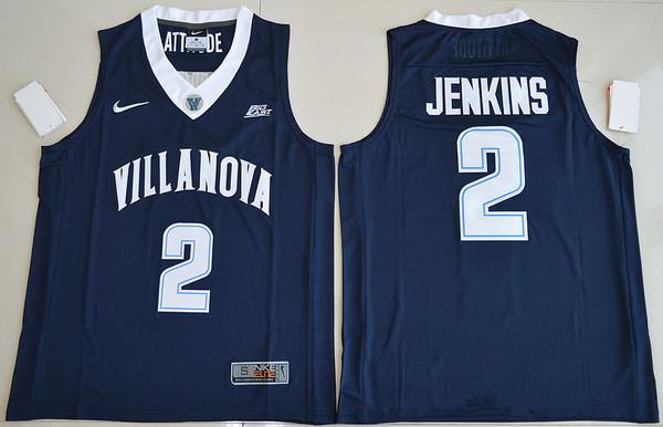 Men's Villanova Wildcats #2 Kris Jenkins Navy Blue College Basketball Nike Swingman Stitched NCAA Jersey