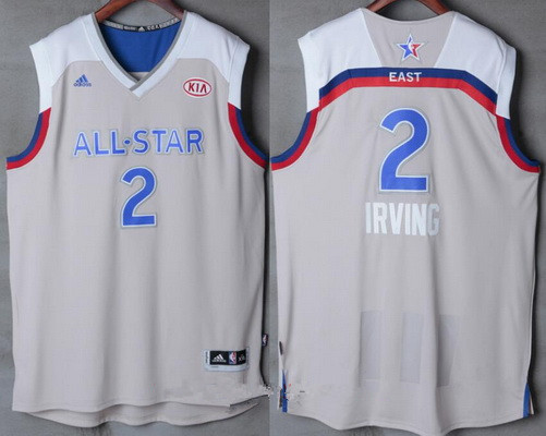 Men's Eastern Conference Cleveland Cavaliers #2 Kyrie Irving adidas Gray 2017 NBA All-Star Game Swingman Jersey