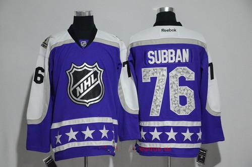 Men's Central Division Nashville Predators #76 P.K Subban Reebok Purple 2017 NHL All-Star Stitched Ice Hockey Jersey