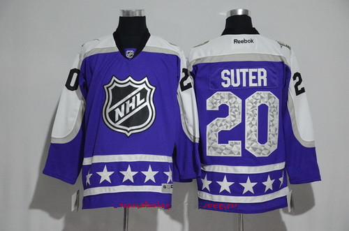 Men's Central Division Minnesota Wild #20 Ryan Suter Reebok Purple 2017 NHL All-Star Stitched Ice Hockey Jersey