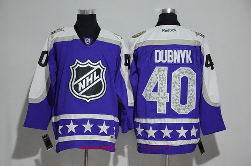 Men's Central Division Minnesota Wild #40 Devan Dubnyk Reebok Purple 2017 NHL All-Star Stitched Ice Hockey Jersey