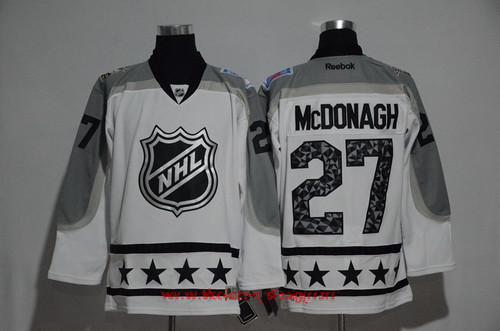 Men's Metropolitan Division New York Rangers #27 Ryan McDonagh Reebok White 2017 NHL All-Star Stitched Ice Hockey Jersey