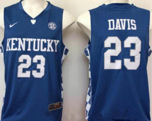 Men's Kentucky Wildcats #23 Anthony Davis Royal Blue College Basketball 2017 Nike Swingman Stitched NCAA Jersey
