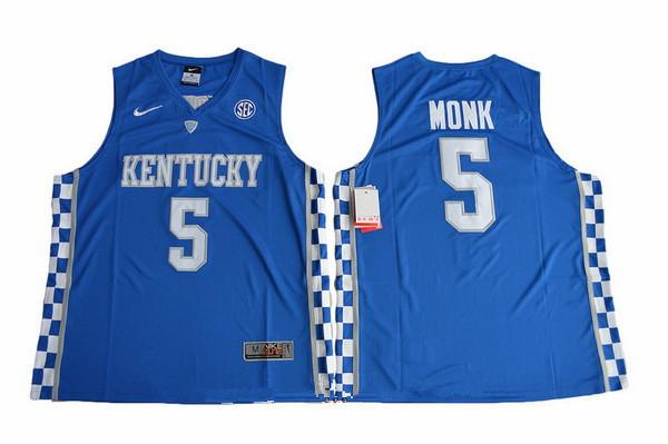 Men's Kentucky Wildcats #5 Malik Monk Royal Blue College Basketball 2017 Nike Swingman Stitched NCAA Jersey
