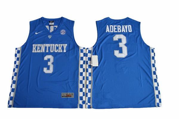 Men's Kentucky Wildcats #3 Edrice Adebayo Royal Blue College Basketball 2017 Nike Swingman Stitched NCAA Jersey