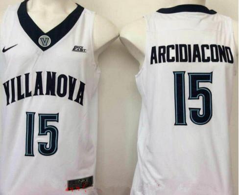 Men's Villanova Wildcats #15 Ryan Arcidiacono White College Basketball Nike Swingman Stitched NCAA Jersey