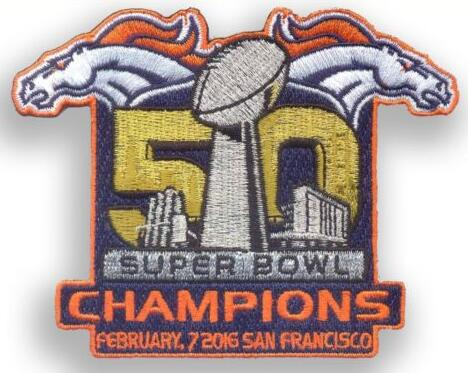 2016 Super Bowl 50th Champions Denver Broncos Championship Patch