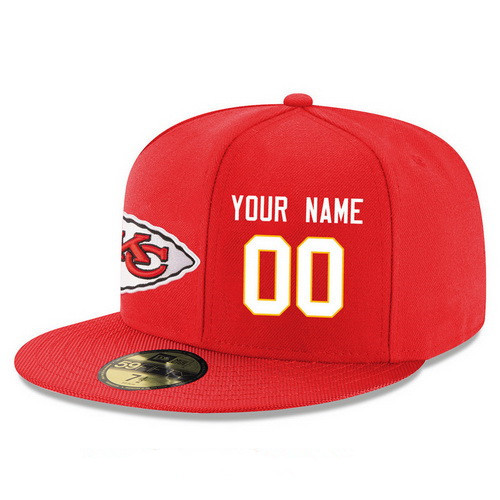 Kansas City Chiefs Custom Snapback Cap NFL Player Red with White Number Stitched Hat