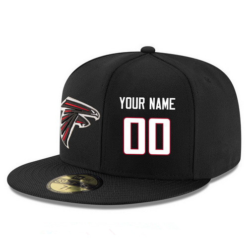Atlanta Falcons Custom Snapback Cap NFL Player Black with White Number Stitched Hat
