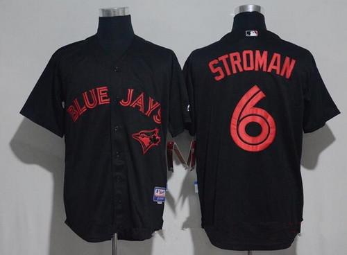 Men's Toronto Blue Jays #6 Marcus Stroman Lights Out Black Fashion Stitched MLB Majestic Cool Base Jersey