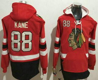 Men's Chicago Blackhawks #88 Patrick Kane NEW Red Stitched NHL Old Tim Hockey Hoodie