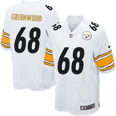 Men's Pittsburgh Steelers #68 L.C. Greenwood White Retired Player NFL Nike Elite Jersey