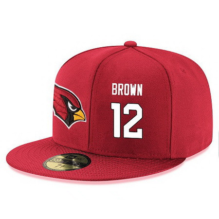 Arizona Cardinals #12 John Brown Snapback Cap NFL Player Red with White Number Stitched Hat