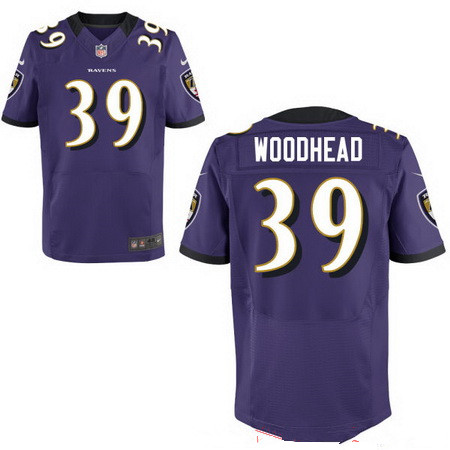 Men's Baltimore Ravens #39 Danny Woodhead Purple Team Color Stitched NFL Nike Elite Jersey