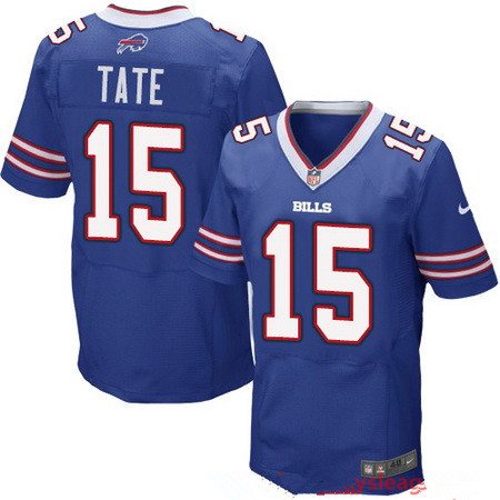 Men's Buffalo Bills #15 Brandon Tate Royal Blue Team Color Stitched NFL Nike Elite Jersey