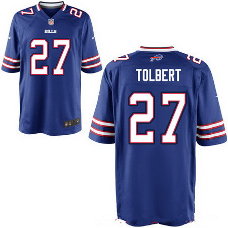 Men's Buffalo Bills #27 Mike Tolbert Royal Blue Team Color Stitched NFL Nike Elite Jersey