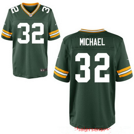 Men's Green Bay Packers #32 Christine Michael Green Team Color Stitched NFL Nike Elite Jersey