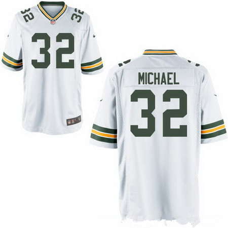Men's Green Bay Packers #32 Christine Michael White Road Stitched NFL Nike Elite Jersey