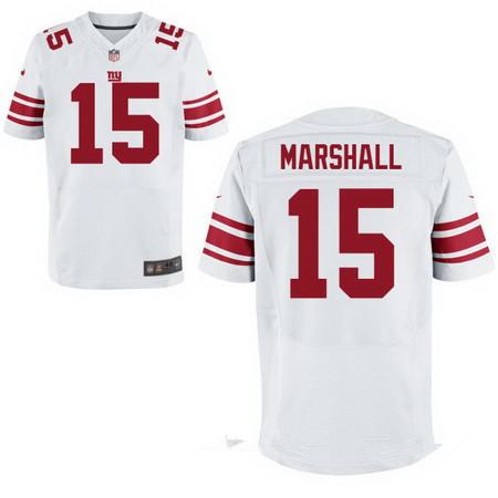 Men's New York Giants #15 Brandon Marshall White Road Stitched NFL Nike Elite Jersey
