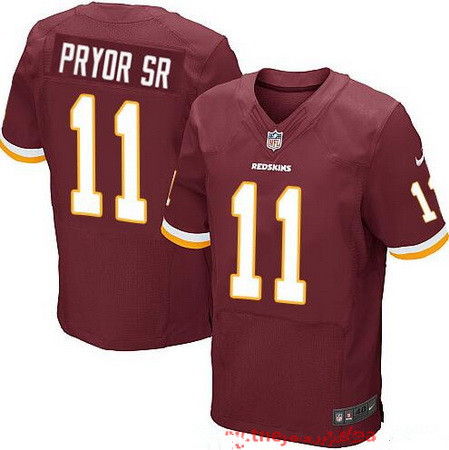 Men's Washington Redskins #11 Terrelle Pryor Sr Burgundy Red Team Color Stitched NFL Nike Elite Jersey