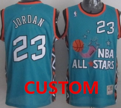 Custom NBA 1996 All-Star Green Swingman Throwback Jersey