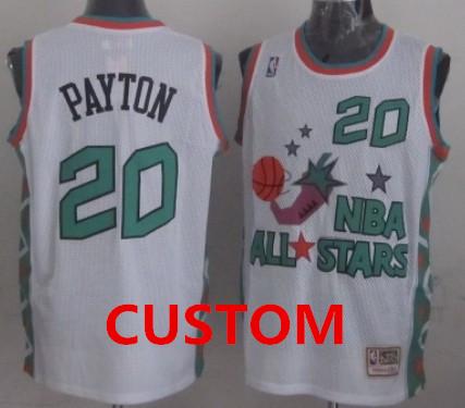 Custom NBA 1996 All-Star White Swingman Throwback Jersey