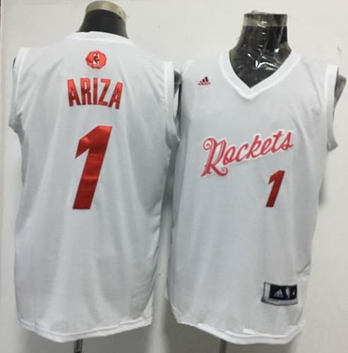 Men's Houston Rockets #1 Trevor Ariza adidas White 2016 Christmas Day Stitched NBA Swingman Jersey