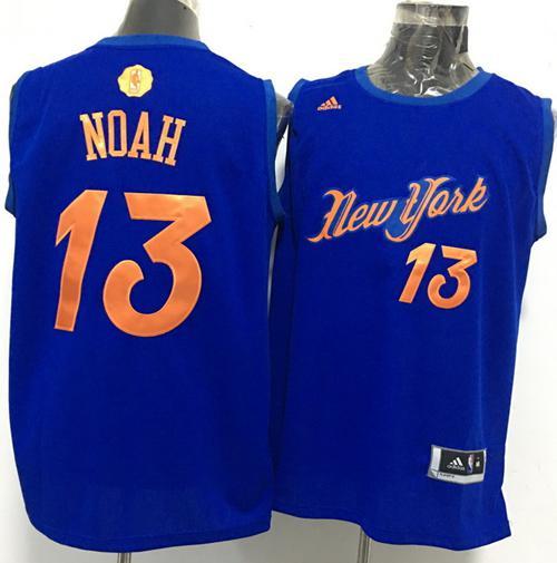 Men's New York Knicks #13 Joakim Noah adidas Royal Blue 2016 Christmas Day Stitched NBA Swingman Jersey