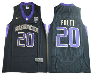 Men's Washington Huskies #20 Markelle Fultz Black College Basketball 2017 Nike Swingman Stitched NCAA Jersey
