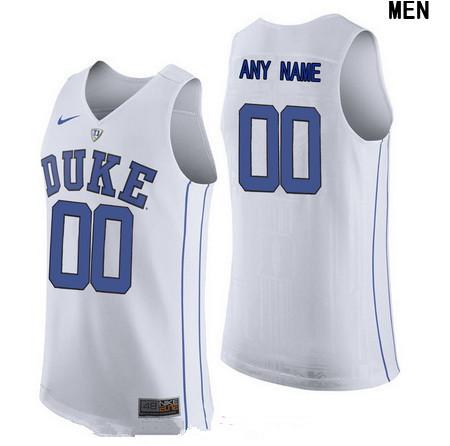Youth Duke Blue Devils Custom Nike Performance Elite College Basketball Jersey - White