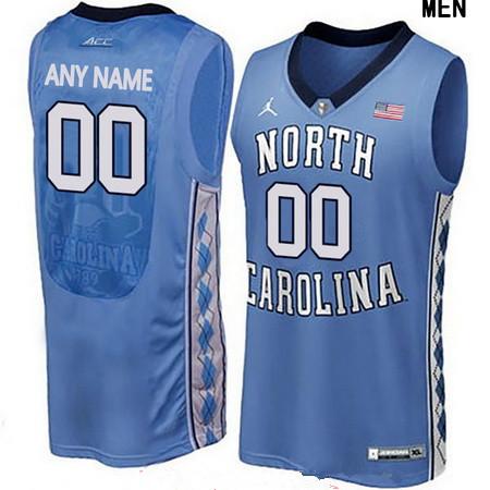 Youth North Carolina Tar Heels Custom Brand Jordan College Basketball Jersey - Light Blue