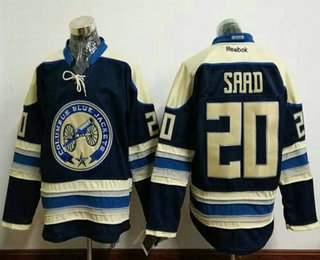 Men's Columbus Blue Jackets #20 Brandon Saad Blue Third Stitched NHL Reebok Hockey Jersey