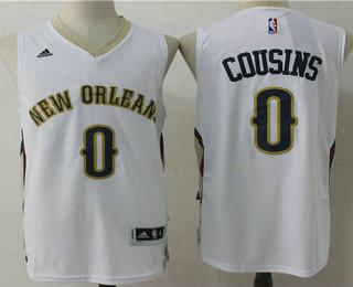 Men's New Orleans Pelicans #0 DeMarcus Cousins White Stitched NBA Revolution 30 Swingman Jersey