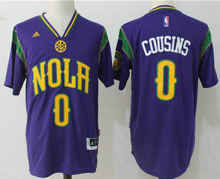 Men's New Orleans Pelicans #0 DeMarcus Cousins Revolution 30 Swingman 2017 Purple Short-Sleeved Jersey