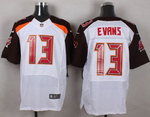 Nike Tampa Bay Buccaneers #13 Mike Evans White Men's Stitched NFL New Elite Jersey