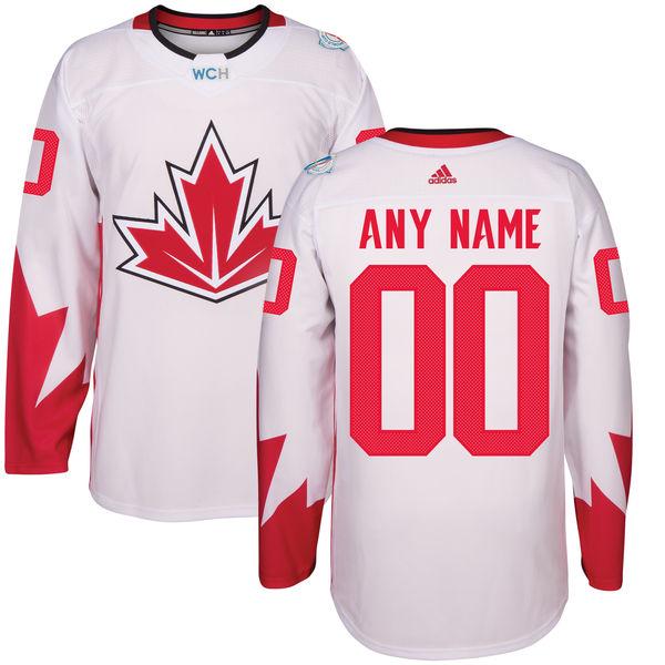 Men's Canada Hockey adidas White World Cup of Hockey 2016 Premier Custom Jersey