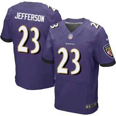 Nike Ravens #23 Tony Jefferson Purple Team Color Men's Stitched NFL New Elite Jersey