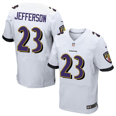 Nike Ravens #23 Tony Jefferson White Men's Stitched NFL New Elite Jersey