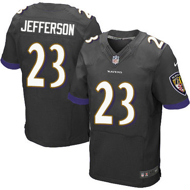 Nike Ravens #23 Tony Jefferson Black Alternate Men's Stitched NFL New Elite Jersey