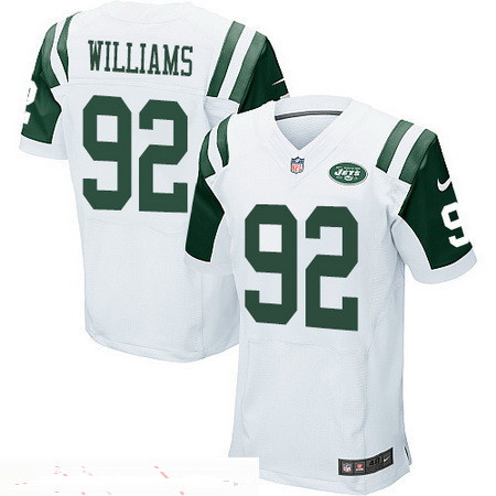 Men's New York Jets #92 Leonard Williams White Road Stitched NFL Nike Elite Jersey