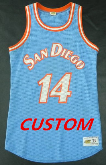 Custom MITCHELL & NESS NBA THROWBACK SAN DIEGO CLIPPERS Powder Blue Jersey