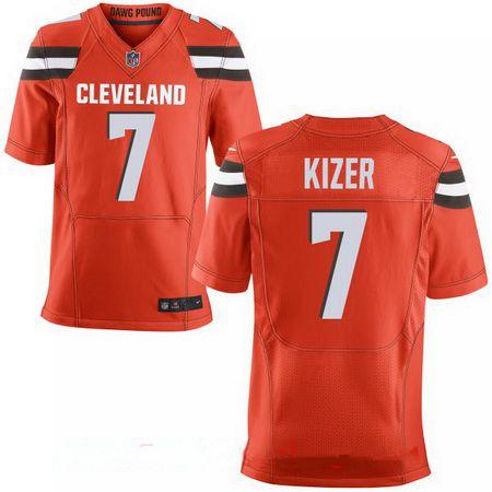 Men's 2017 NFL Draft Cleveland Browns #7 DeShone Kizer Orange Alternate Stitched NFL Nike Elite Jersey